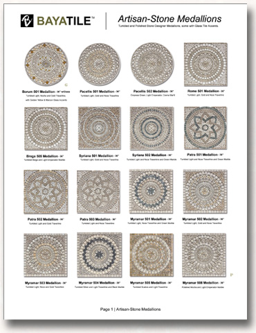 round waterjet stone cream product medallion moreroom detail carpet red marble